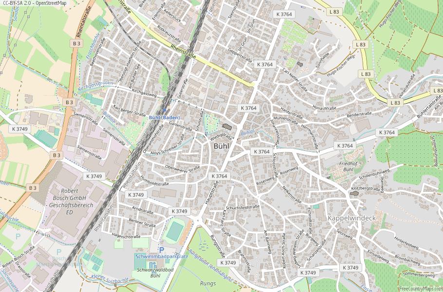 Bühl Germany Map