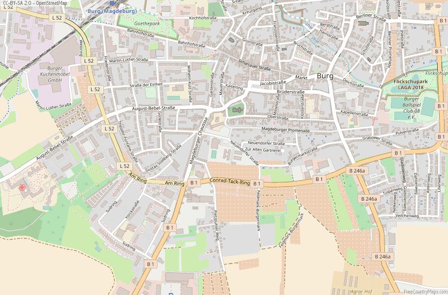 Burg Germany Map