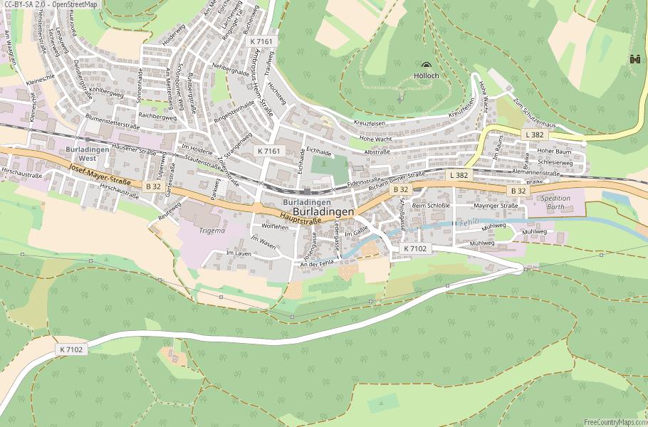 Map Of Germany Landforms.Burladingen Map Germany Latitude Longitude Free Maps
