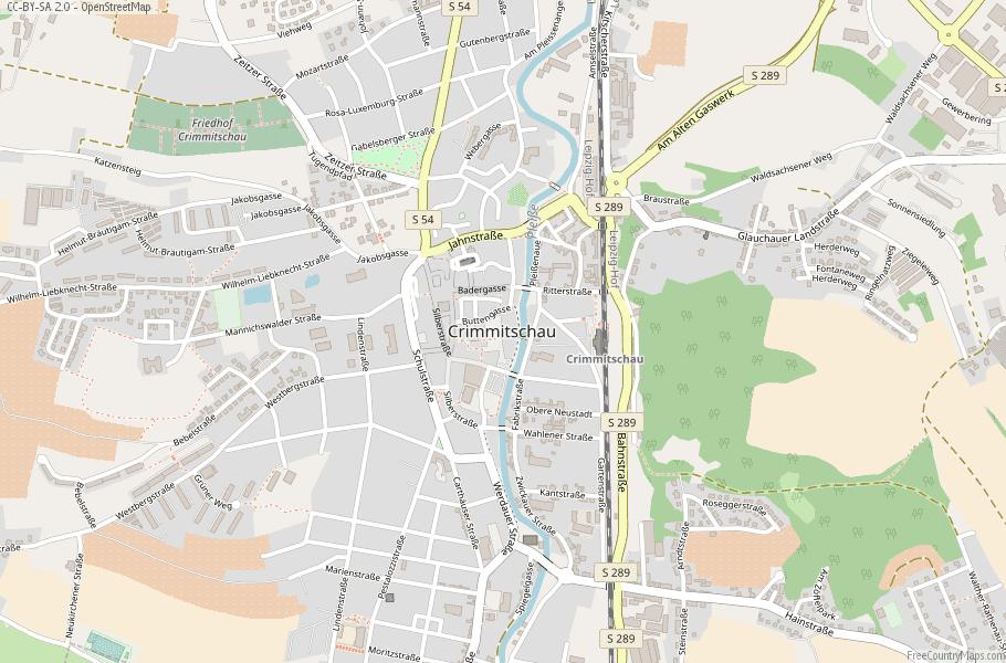 Crimmitschau Germany Map