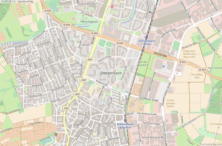 Dietzenbach Germany Map