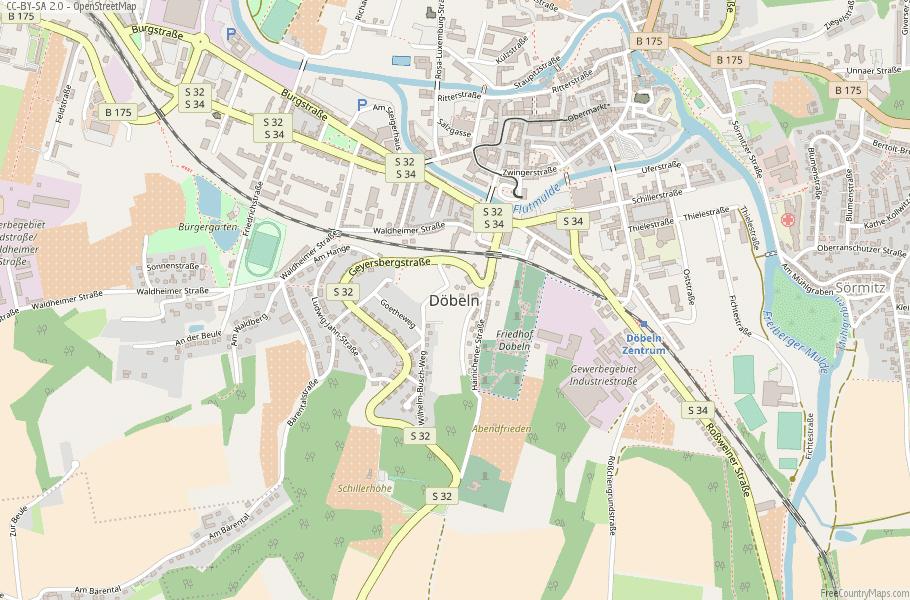 Döbeln Germany Map