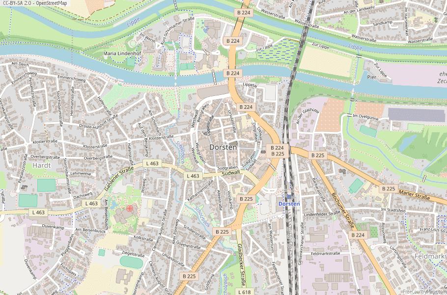 Dorsten Germany Map