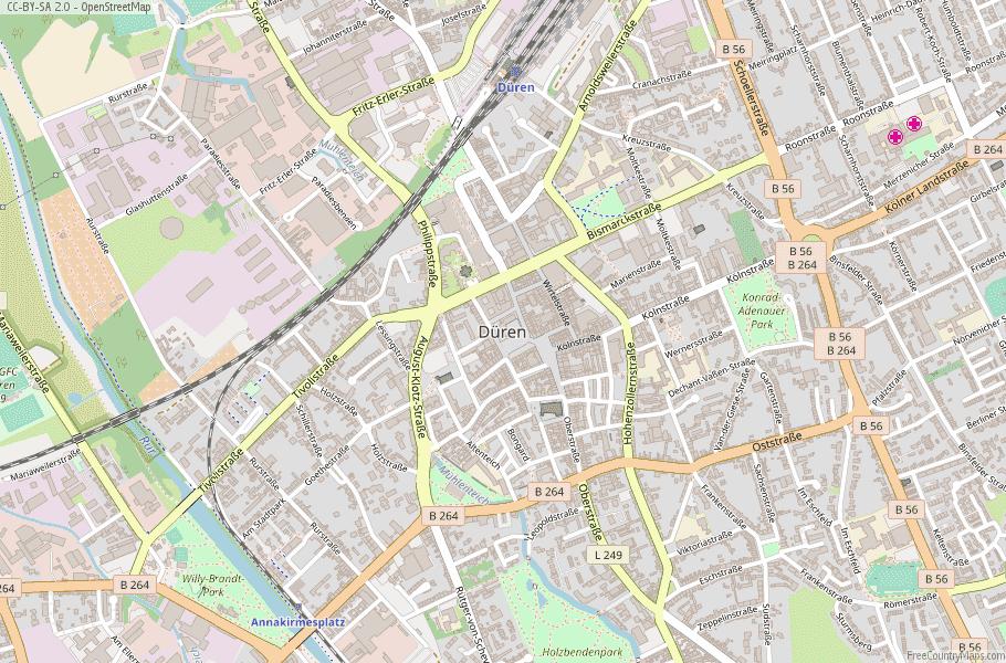 Düren Germany Map