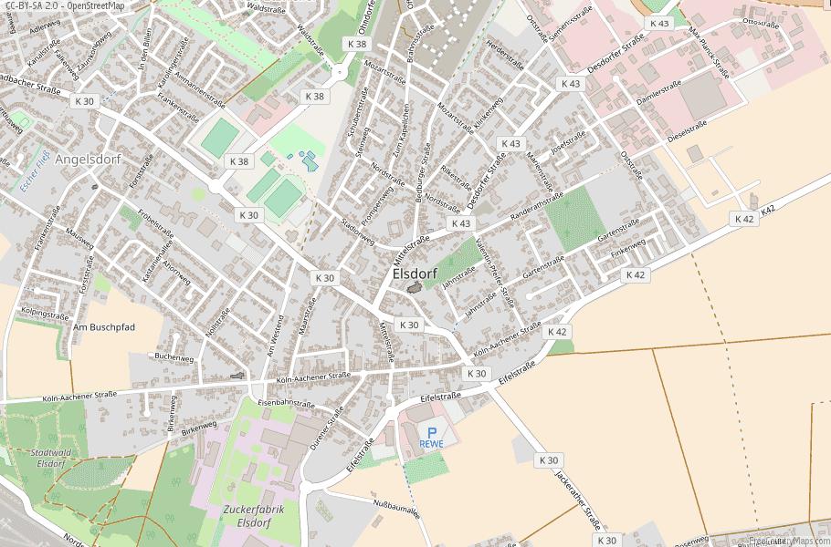 Elsdorf Germany Map
