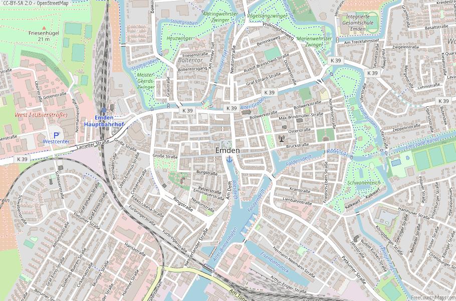 Emden Germany Map