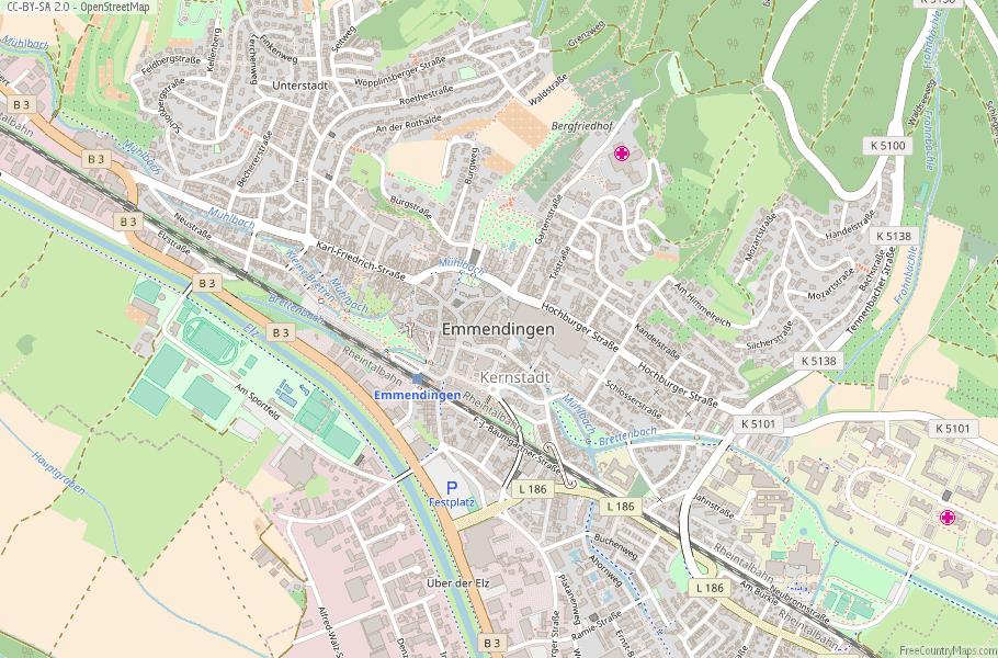 Emmendingen Germany Map