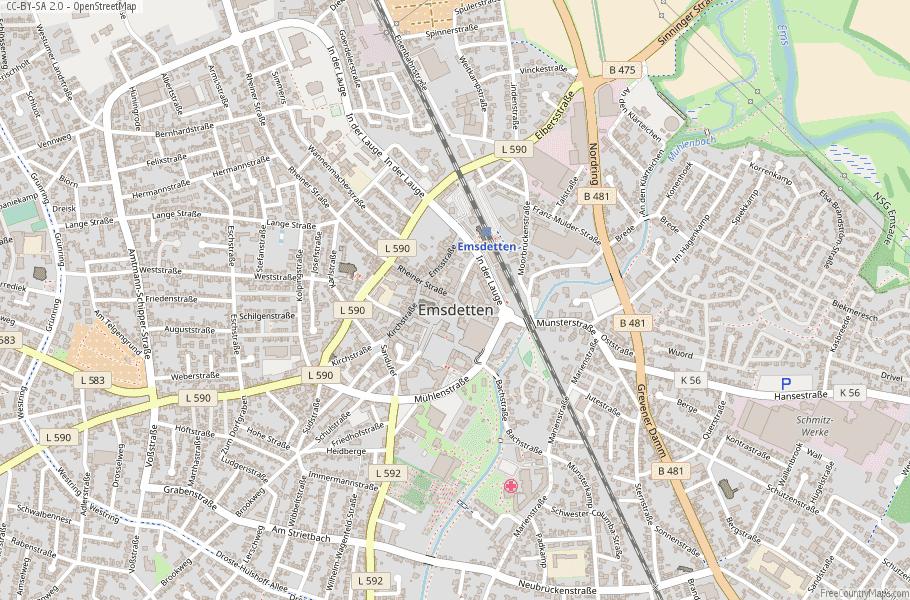 Emsdetten Germany Map