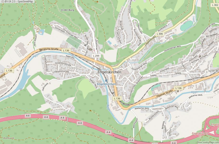 Engelskirchen Germany Map