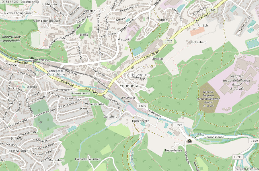 Ennepetal Germany Map