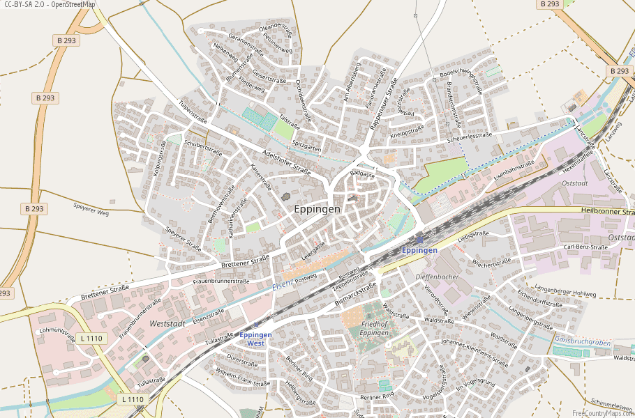 Eppingen Germany Map