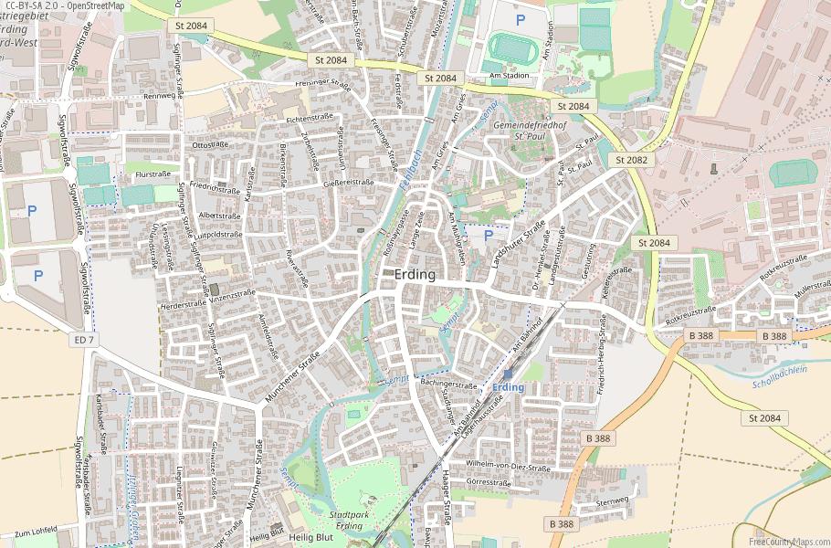 Map Of Zirndorf Germany.Erding Map Germany Latitude Longitude Free Maps