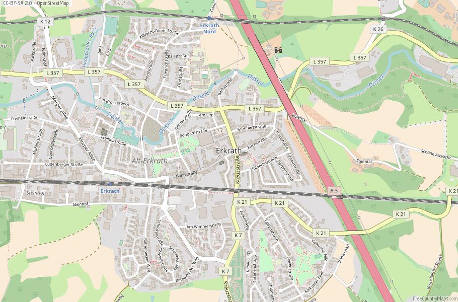 Erkrath Germany Map