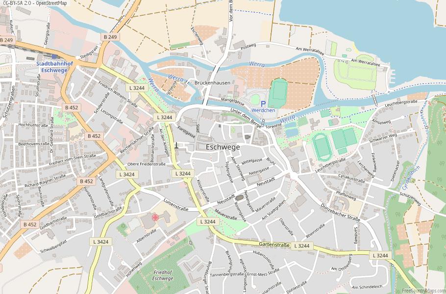 Eschwege Germany Map