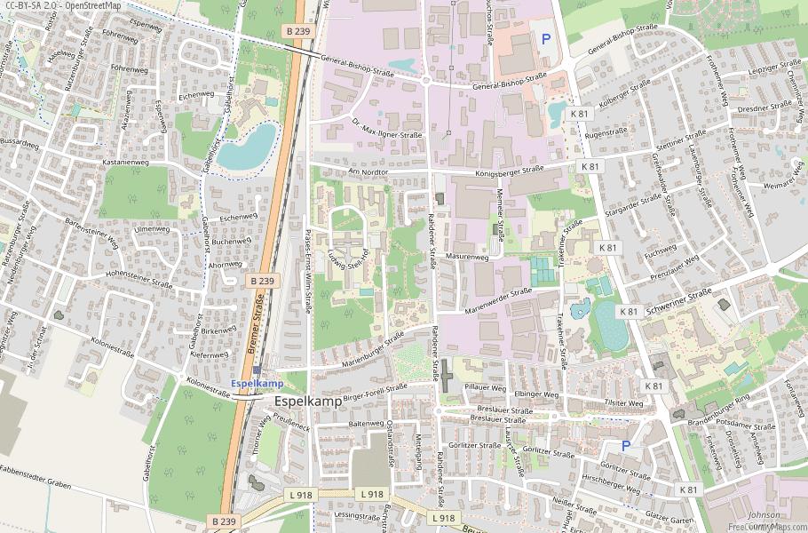 Espelkamp Germany Map