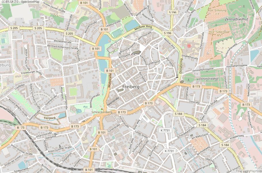 Freiberg Germany Map