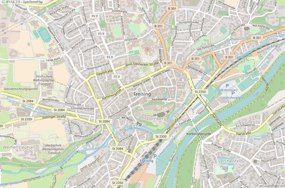 Freising Germany Map