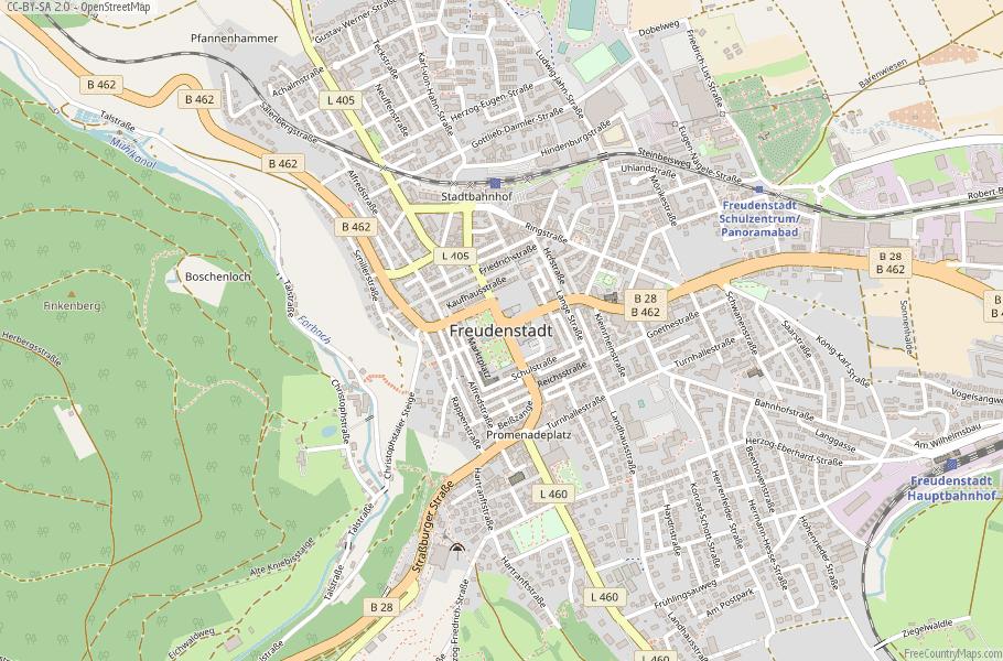 Freudenstadt Germany Map