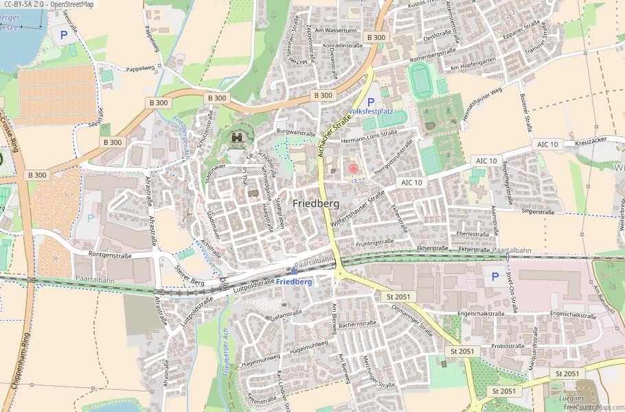 Friedberg Germany Map