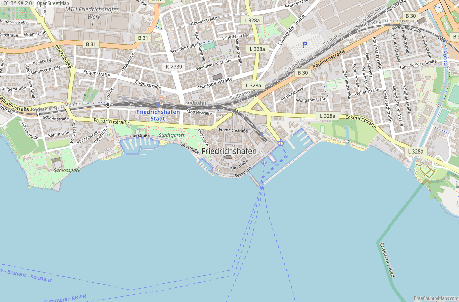 Friedrichshafen Germany Map