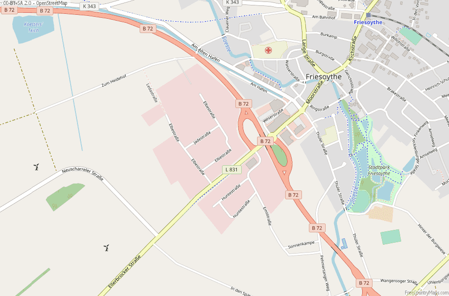 Friesoythe Germany Map