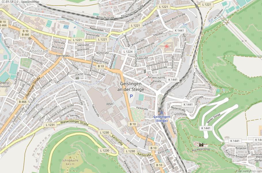 Geislingen an der Steige Germany Map
