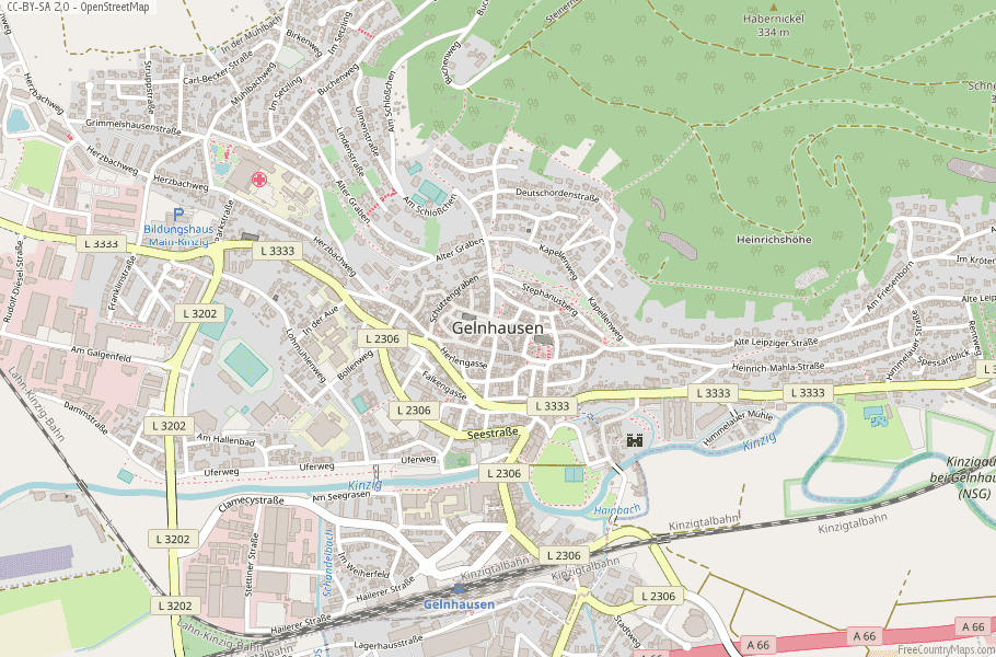 Gelnhausen Germany Map