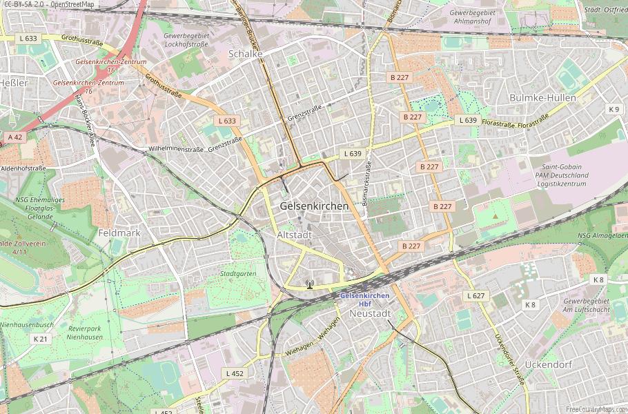 Map Of Germany Gelsenkirchen.Gelsenkirchen Map Germany Latitude Longitude Free Maps