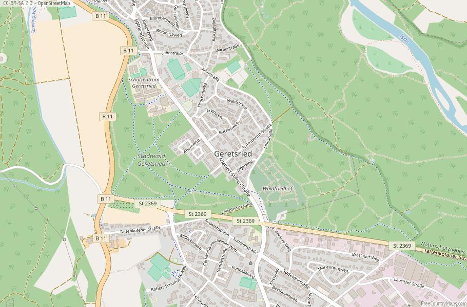 Geretsried Germany Map
