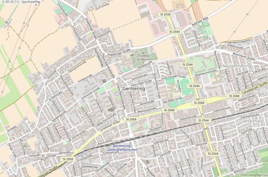 Germering Germany Map