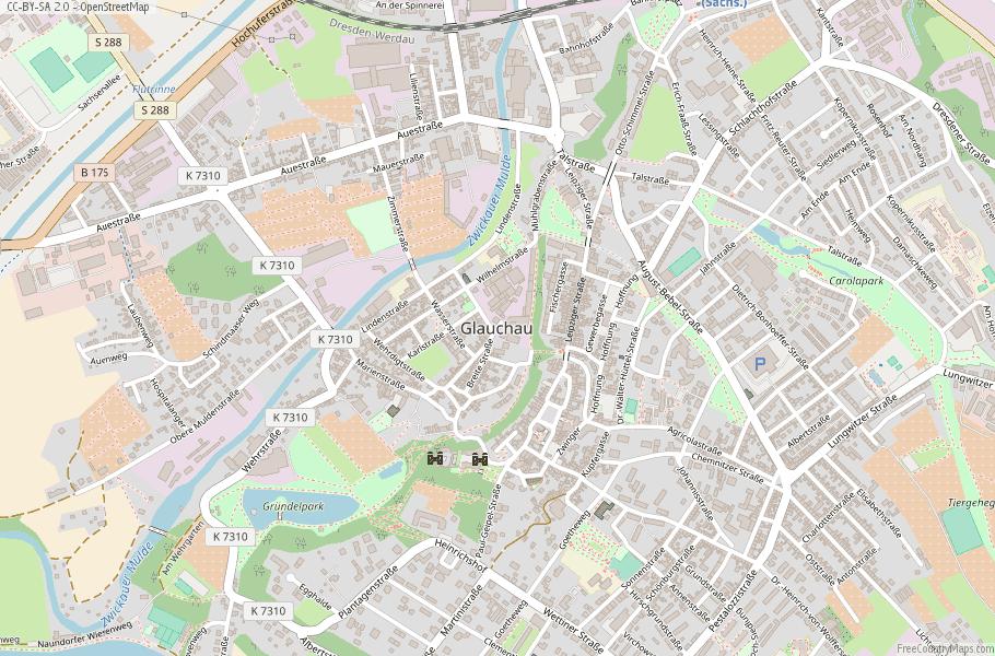 Glauchau Germany Map