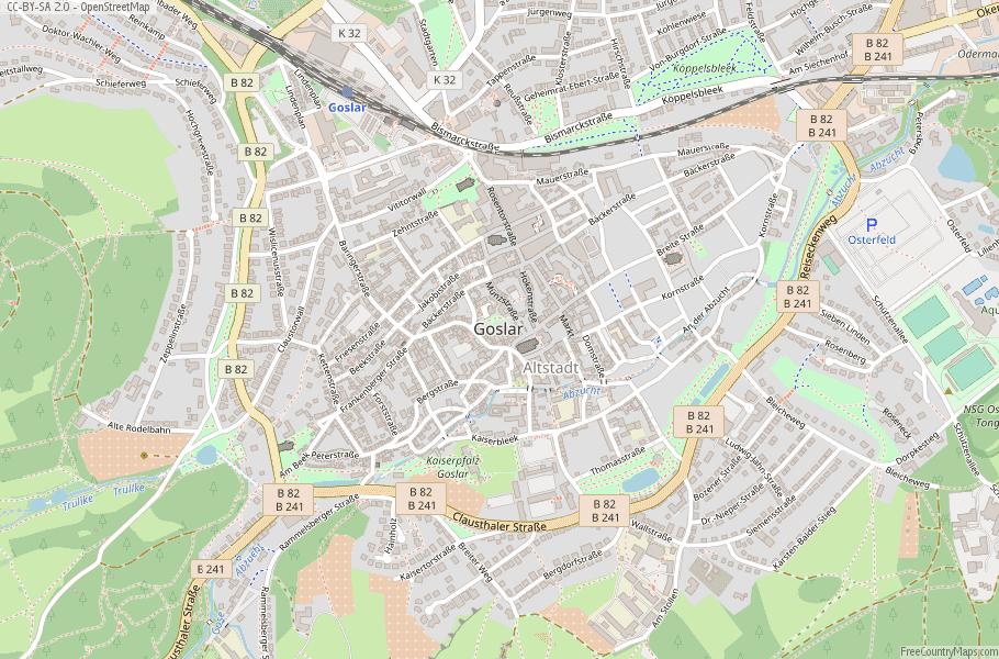 Goslar Germany Map