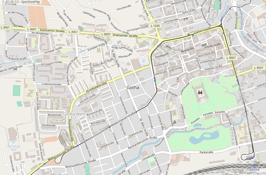 Gotha Germany Map
