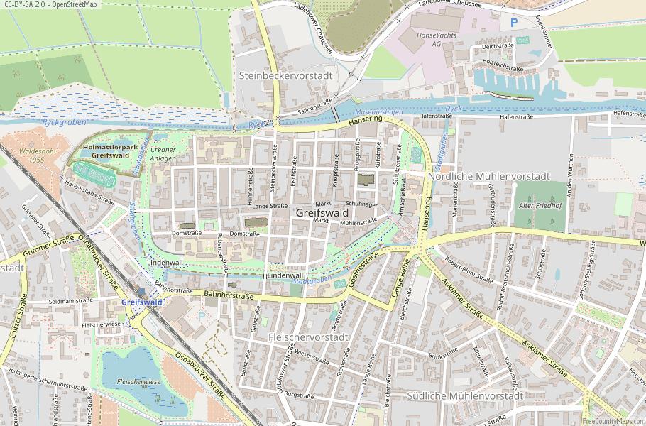 Greifswald Germany Map