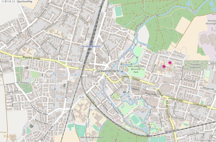 Grevenbroich Germany Map