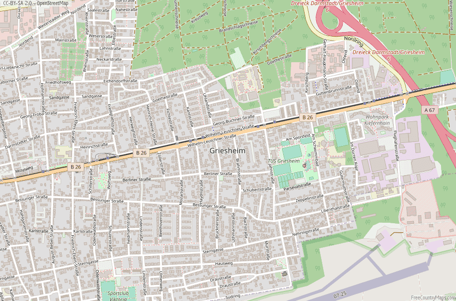 Griesheim Germany Map