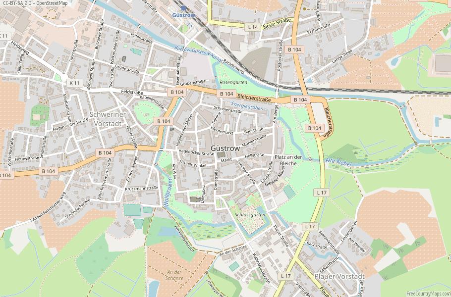 Güstrow Germany Map