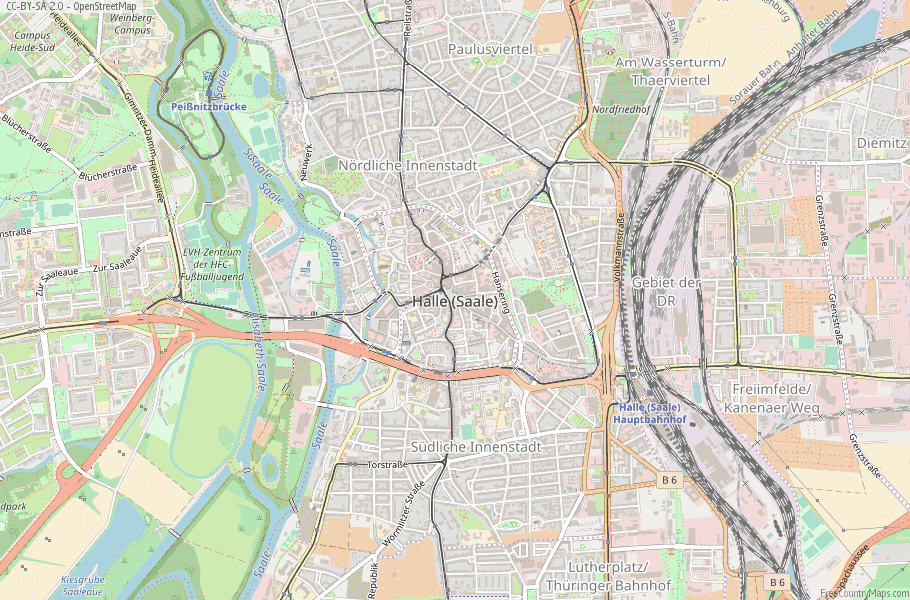 Halle (Saale) Germany Map