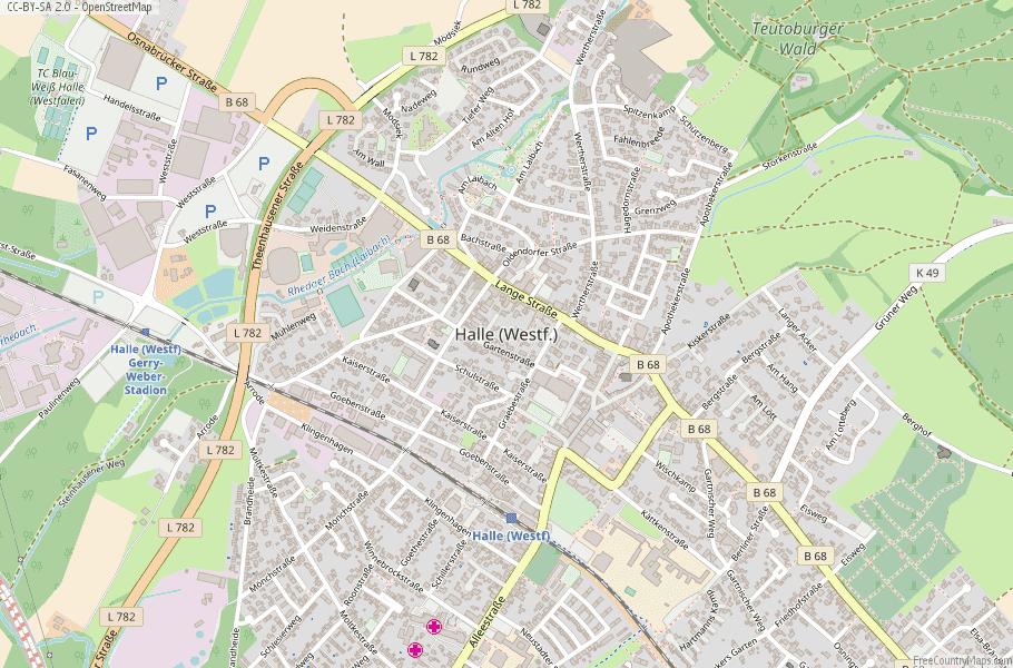 Halle (Westfalen) Germany Map