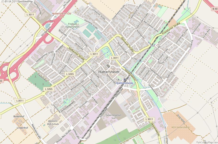 Hattersheim Germany Map
