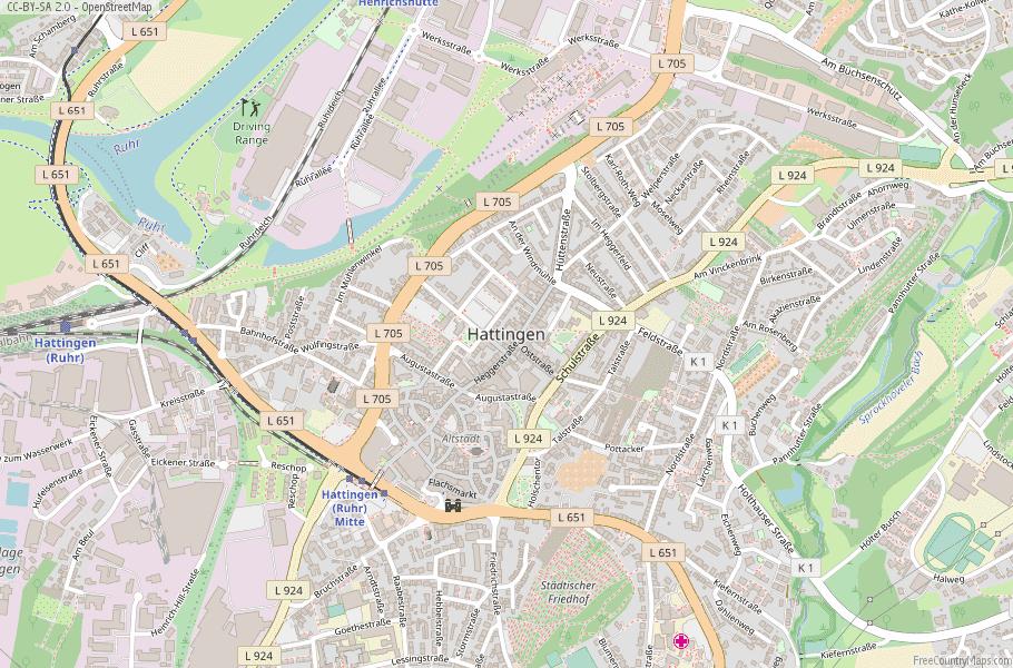 Hattingen Germany Map