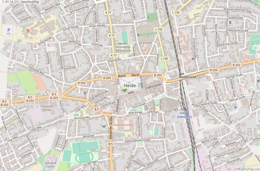Heide Germany Map