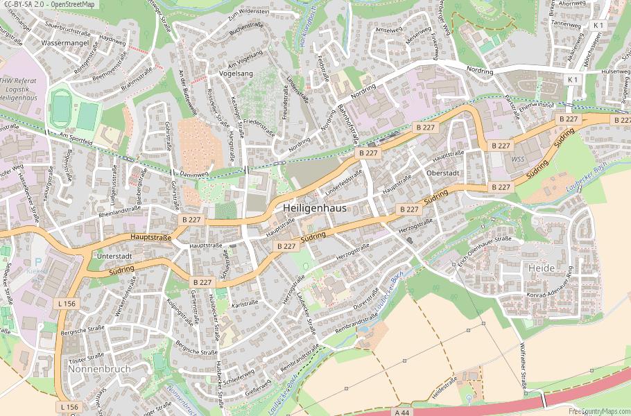 Heiligenhaus Germany Map