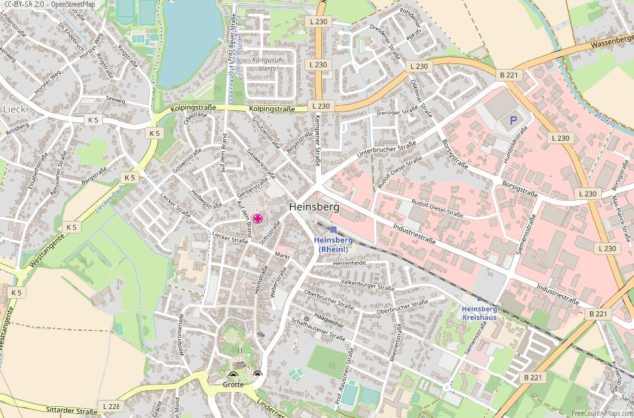 Heinsberg Germany Map
