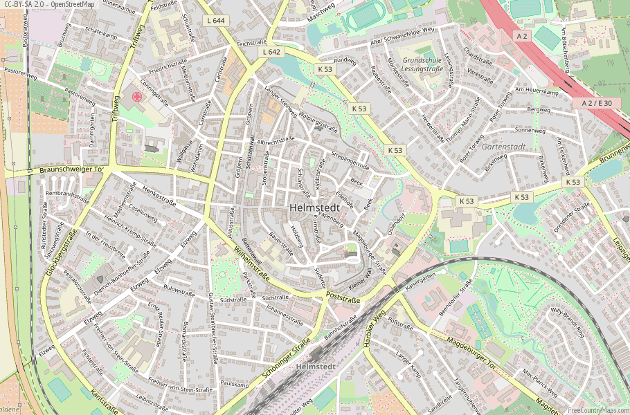 Helmstedt Germany Map