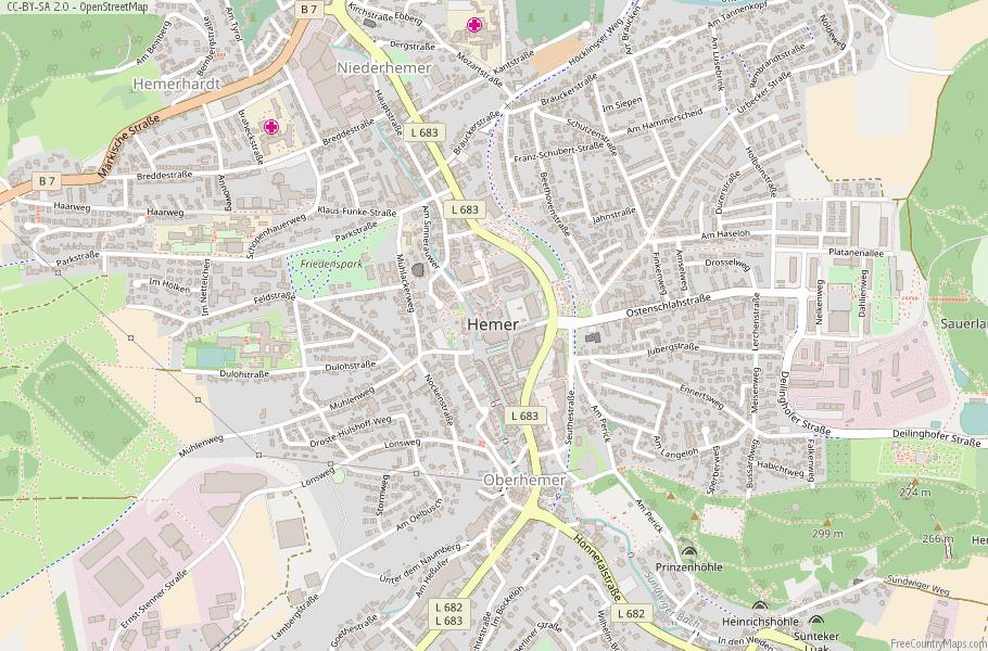 Hemer Germany Map