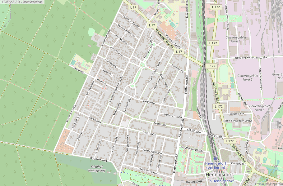 Hennigsdorf Germany Map