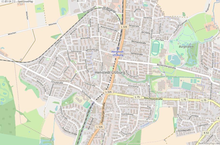 Henstedt-Ulzburg Germany Map