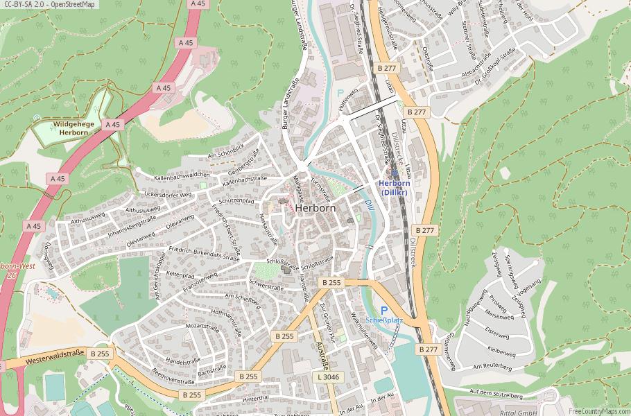 Herborn Germany Map