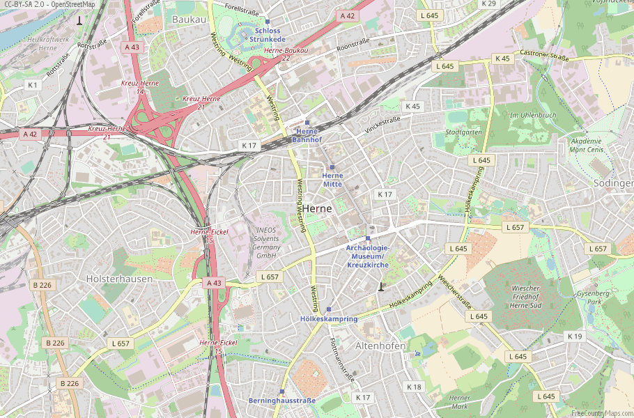 Herne Germany Map